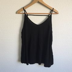 {ASOS} Open Back Tank gently worn. would fit size small, medium, or maybe large. It's a very flowy fit. some piling ASOS Tops Tank Tops