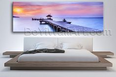 "Large Habor Bay Sunset Landscape On Canvas Art Print Home Decor Living Room, Large Beach Wall Art, Living Room, Portage. Large Habor Bay Sunset Landscape On Canvas Art Print Home Decor Living Room Subject : Beach Style : Photography Panels : 1 Detail Size : 60""x20""x1 Overall Size : 60""x20"" = 152cm x 51cm Medium : Giclee Print On Canvas Condition : Brand New Frames : Gallery wrapped Availability: *Important: This is a very large size wall art, and we are not able to ship it…"