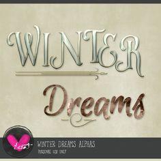 Winter Dreams Alphas by #heartjournaling #thestudio #digitalscrapbooking