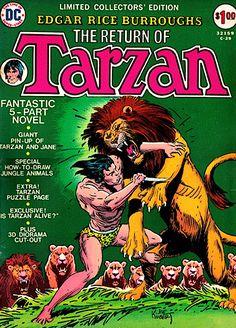 THE ORIGIN OF TARZAN SPECIAL BRAZIL EDITION 1973 NEW KUBERT E.R BURROUGHS