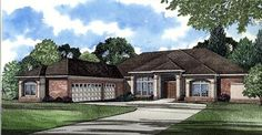 Colonial House Plan 62017