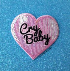 It's my party & I'll cry if I want to ♥ ♥ 2.5 x 3.5 inches ♥ Iron on - Super easy to apply, but some sewing is recommended if you'll be washing the item a lot. ♥ Made for any type of apparel- jackets, vests, even t-shirts, the customization is up to you!