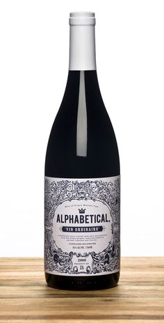 Alphabetical Wines designed by Marco Simal