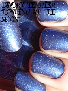 """@TawdryTerrier """"Howling at the Moon"""" in the sun - available at https://www.etsy.com/shop/TawdryTerrier #nailpolish #tawdryterrier #indienailpolish"""