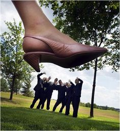 So funny :) I would love to do this when I get married (except with cuter shoes!!) heatherannbrown