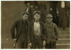 <b>The impact of these images, by photographer Lewis Hine, were instrumental in changing the child labor laws in the U.S.</b>