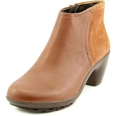 Easy Spirit Danessa Women Round Toe Leather Brown Bootie >>> New and awesome boots awaits you, Read it now  : Booties
