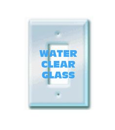 Single Decora Paintable Clear Glass Switch Cover Plate