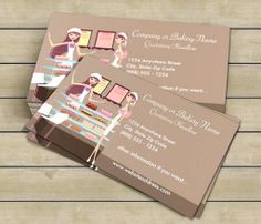 Bakery/Pastry Shop 3 Business Card This great business card design is available for customization. All text style, colors, sizes can be modified to fit your needs. Just click the image to learn more! | bizcardstudio.co.uk