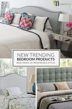 Lexmod makes picking the perfect bed easy with dozens of modern styles to choose from. The centerpiew of your room deserves some flair, so why not transform your slumber into a full sensory experience? Tap the pin to get started today! Dream Bedroom, Home Bedroom, Master Bedroom, Bedroom Decor, Bedroom Ideas, New Room, Beautiful Bedrooms, Home Staging, Sensory Experience