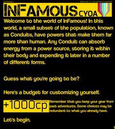 CYOA Infamous