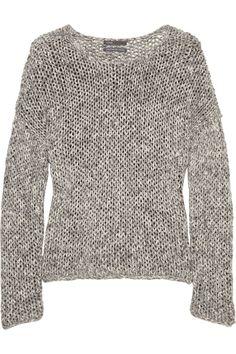 VINCE Open-knit cotton-blend sweater $225