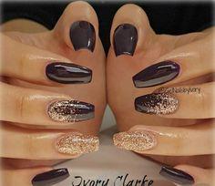 🌹Ꮲɪɴᴛᴇʀᴇsᴛ|@sɴᴇᴀᴋᴇʀ ʙᴀᴇ Fancy Nails, Trendy Nails, Cute Nails, Plum Nails, Brown Nails, Sexy Nails, Acrylic Nail Designs, Nail Art Designs, Dark Nail Designs