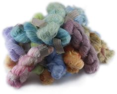 Mohair Handdyed by Charlotte Spagner