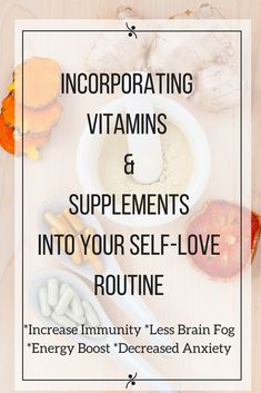 Vitamins and supplements are so important to keep us functioning at an optimal level. Our diets and lifestyles can prohibit us from getting all the nutrients that our body needs which is why I began incorporating it into my daily self-love routine. Click through to find out which vitamins and supplements I swear by! Health| Wellness| Vitamins| Supplements| Self-Love| Self-Care| Wellness | Self-love tips | Self-love activities | Self-love exercises