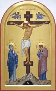 Byzantine Icons, Byzantine Art, Religious Tattoos, Religious Icons, Archangel Raphael, Raphael Angel, Roman Church, Crucifixion Of Jesus, Life Of Christ