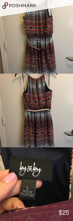 Tribal Print Dress Only worn once! Comes to about mid thigh on me (I'm 5'8). Very lightweight and great for summertime! Cute tribal print too! 🌼 There are no stains or tears. Offers welcomed! Dresses