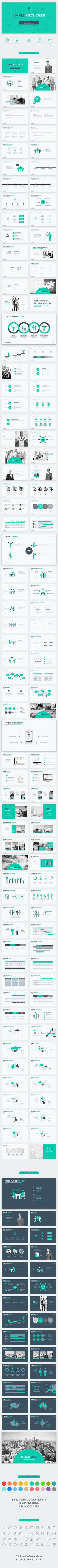 Simple Pitch Deck Keynote Template by JafarDesigns Only created for real world proven Presentation! A professional, clean and simple Pitch Deck Keynote Template to show your company Keynote Presentation, Pitch Presentation, Company Presentation, Business Presentation, Presentation Design, Presentation Templates, Web Design, Graphic Design Art, Layout Design