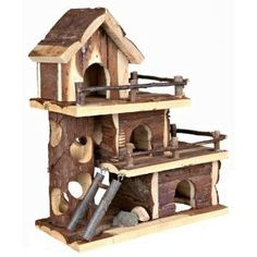 Trixie Natural Living Tammo House 25 x 30 x 12 cm Hamster Mice Gerbil Gerbil Toys, Gerbil Cages, Rat Toys, Toys Uk, Hamster Live, Hamster Stuff, Hamster Habitat, Pet Mice, Pet Supply Stores