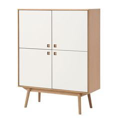 Highboard Levin - Eiche / Weiß Jetzt bestellen unter: https://moebel.ladendirekt.de/wohnzimmer/schraenke/highboards/?uid=f1c18822-9923-5a70-86a1-ebec459f37cc&utm_source=pinterest&utm_medium=pin&utm_campaign=boards #highboards #schraenke #wohnzimmer