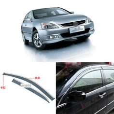 94.99$  Buy now - http://aliv77.shopchina.info/1/go.php?t=32814160171 - 4pcs Blade Side Windows Deflectors Door Sun Visor Shield For Honda Accord 2004-2007  #bestbuy