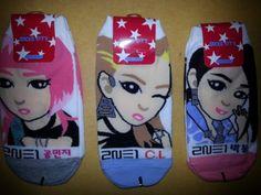 2NE1-3-pairs-of-socks-YG-crush-lonely-cl-bigbang-jyp-exo-sm-idol-kpop