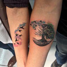 creative couple tattoo © Zona Quitox Tattoo Company