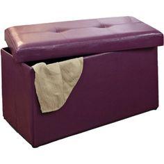 Double Folding Ottoman, Purple