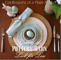 Spring Tablescape Inspiration...getting The Pottery Barn Look...
