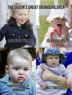 Great grandchildren of Queen Elizabeth II and Prince Philip