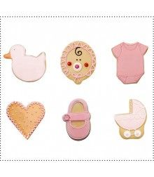Galletas Pack Bebé Niña 12 unidades Baby Shoes, Accessories, Showers, Shower Ideas, Sweets, Presents, Creativity, Baby Boy Shoes, Crib Shoes