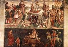 The Triumph of Venus and Taurus the Bull with its Decans. From April, Salone dei Mesi in Palazzo Schifanoia.