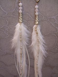 Bohemian Real Ostrich Feather Dangle Earrings for Women with Shell Beads Long Tassel Design Drop Earrings (Color) – Fine Jewelry & Collectibles Feather Jewelry, Feather Earrings, Wire Jewelry, Boho Jewelry, Beaded Jewelry, Jewelery, Jewelry Design, Diy Jewellery, Cuff Earrings