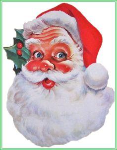 Santa Claus Face Card Set One