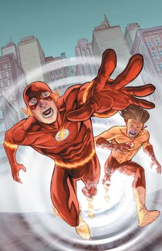 The Flash and Kid Flash by Francis Manapul *