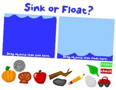 Sink or Float online drag & drop activity