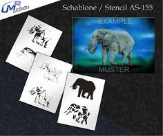 Step By Step Airbrush Stencil As-155 ~ Stencils ~ Umr-Design