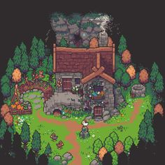 Landscape Illustration, Illustration Art, Pokemon, 8bit Art, Isometric Art, Pixel Art Games, Pixel Design, Fantasy Art Landscapes, Game Character Design