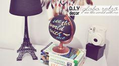 DIY decor - Globo retrô (faça você mesmo fácil para decoração)