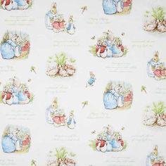 Caprice Peter Rabbit Family Fabric Taupe 112 cm