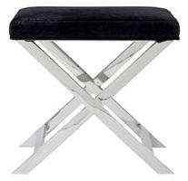 Upholstered stool option as alternative seating to compliment Breakfast Table~xoxo, Stash