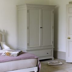 "FLEUR WARDROBE Our Charlie banged on about how we had to get the paint finish just right for this lovely wardrobe. Devoid of even the faintest whiff of ""high street lacquer"", each one undergoes a 7-step process to get the perfect matt and vintage look that's bursting with character."