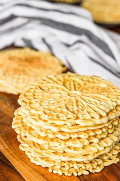 This classic pizzelle recipe produces light & crispy Italian waffle cookies using a pizzelle iron! Tips for how to make pizzelle cookies + variations. Pizzelle Cookies, Waffle Cookies, Making Chocolate, How To Make Chocolate, Chocolate Pizzelle Recipe, Pizzelle Recipe Vanilla, Pizelle Recipe, Easy Cookie Recipes, Vanilla