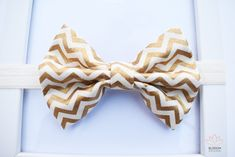 Gold Chevron Baby Headband, Chevron Bow Headband, Zigzag Pattern Headband, Chevron Headband, Baby Girl Headband, Headbands For Babies and Toddlers, Headbands For Girls and Adults