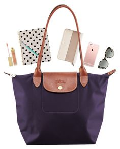 """""""What's in my Longchamp"""" by ephendricks ❤ liked on Polyvore featuring Kate Spade, Faber-Castell, Longchamp, Tory Burch, AERIN, women's clothing, women's fashion, women, female and woman"""