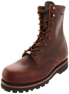 """Wolverine Men's Plainsman 8"""" Work Boot Wolverine. $98.40. Leather midsole. Rubber sole. Made in the USA with Horween leather, unlined lining and PU footbed. leather. Dual density PU Vibram 360' rubber lug outsole. Goodyear welt construction"""