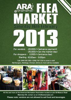 ARA Flea Market Sat 16th February