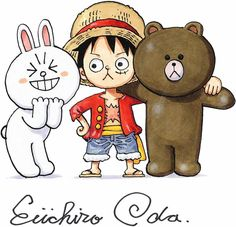 Luffy, brown and cony