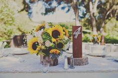 DIY Rustic Sunflower Wedding | Teal Photography | Bridal Musings