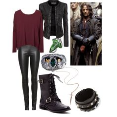 Aragorn from LotR by anam-craite666 on Polyvore featuring Vero Moda, Doublju, The Row, Sole Society, Rachel Roy and Valentino